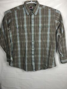 Panhandle-Slim-Brooks-amp-Dunn-Collection-Snap-Front-embroidered-Shirt-Mens-Xl