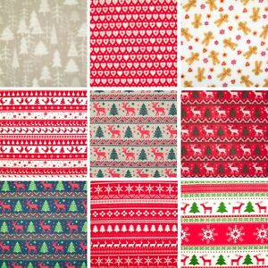QUALITY CHRISTMAS NORDIC SCANDI QUILTING CRAFT COTTON FABRIC FAT QUARTER GREENS