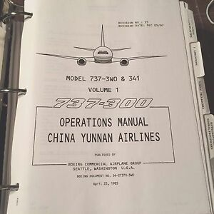 flightsafety boeing 737 300 operations manual ebay rh ebay com boeing 737 operating manual boeing 787 operations manual