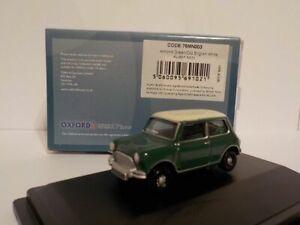 Austin-Mini-Green-White-Oxford-Diecast-1-76-New-Brand-New-Gift