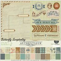 Heritage Legacy Collection 12x12 Scrapbooking Paper Crafting Kit Authentique