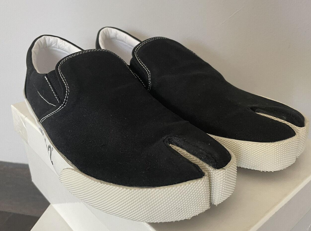 MAISON MARGIELA SS19 Black Tabi Split Toe Slip On Sneakers Shoes 46/US 13 NIB!
