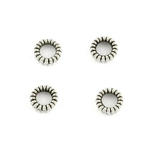 Tibetan Barrel Spacer Beads 5 x 8mm Antique Silver 30 Pcs Art Hobby Jewellery