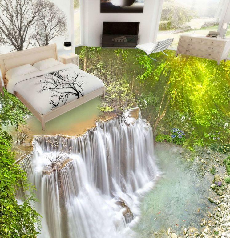 3D Cascade 18 Fond d'écran étage Peint Art en Autocollant Murale Plafond Chambre Art Peint bd7543
