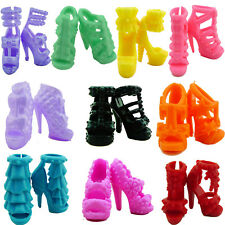 Certain 10 Pair Shoes High Heels Sandal Accessories For 11.5inch 12inch 1/6 Doll
