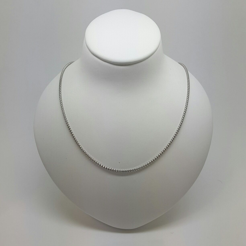 Miran 150286 18K (750) White gold Round Box Chain 50cm 3.5g RRP  710