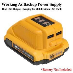 For-Dewalt-DCB090-Lithium-Battery-USB-Power-Source-Charger-Adapter-10-8V-14-4V
