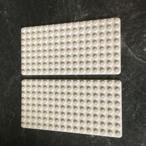 neu LEGO 2 Grundplatten 8 x 16 weiß