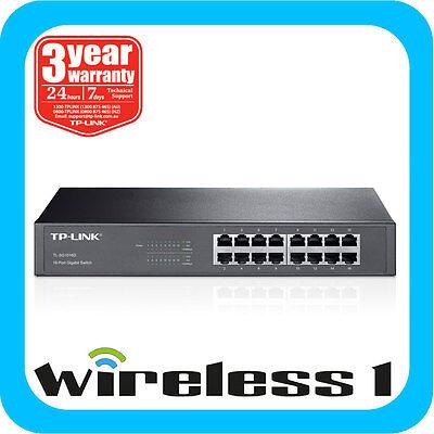 TP-Link TL-SG1016D 16-Port 10/100/1000M Gigabit Desktop Switch Rack Mountable