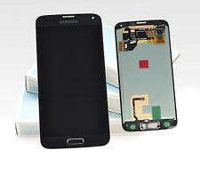 Original SAMSUNG Galaxy S5 Schwarz Blau SM-G900F LCD Display Bildschirm Rahmen