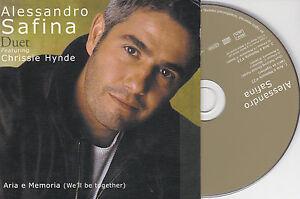 CD-CARTONNE-CARDSLEEVE-ALESSANDRO-SAFINA-amp-CHRISSIE-HYNDE-2T-ARIA-E-MEMORIA