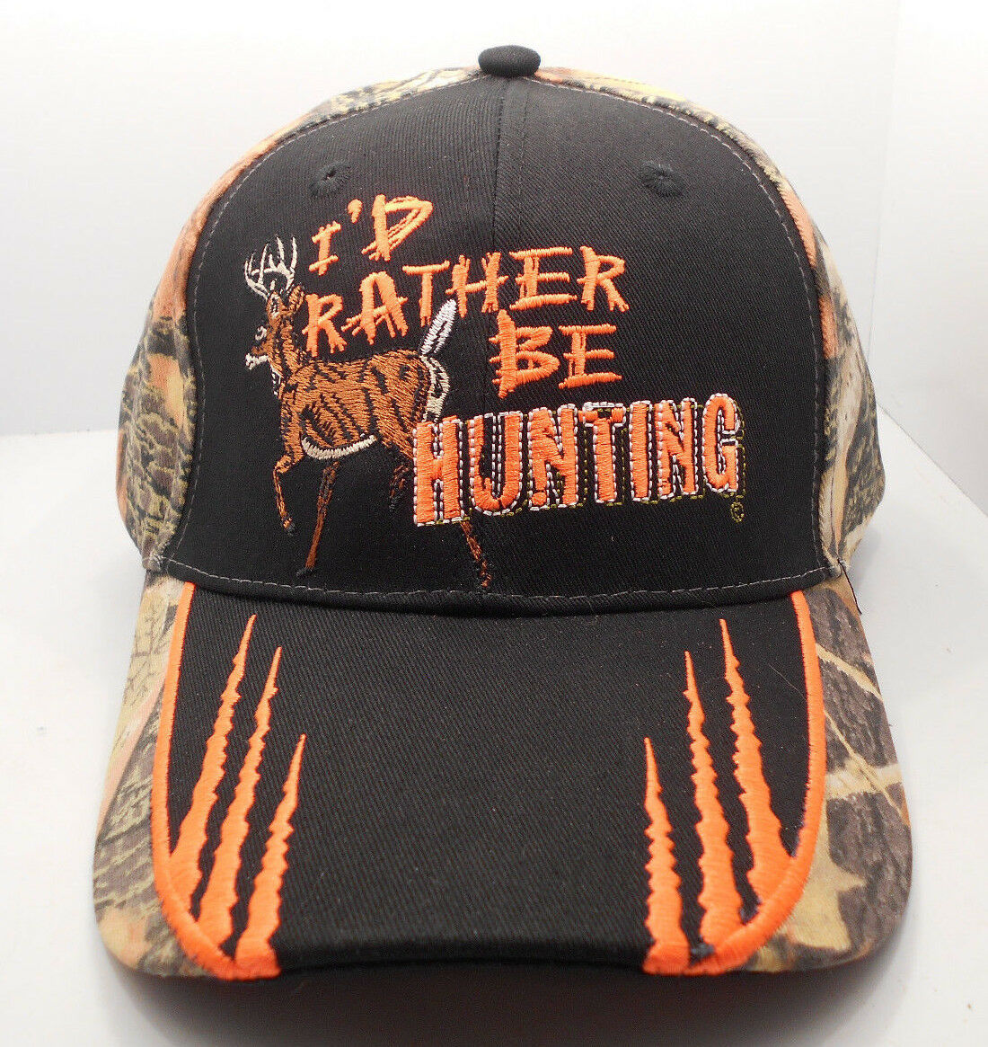 I'd Rather Be  Hunting Deer Buck Hunter  Be Ball Cap Hat New NWT H19 8d7dc4