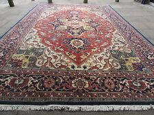 Large OLD HANDMADE IndoPERSIAN ORIENTAL Wool Red Carpet 536x365cm 18'x12'