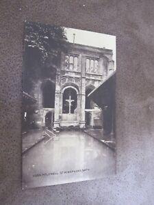 Early-Postcard-St-Winefride-039-s-Bath-Holywell-Flintshire-Wales