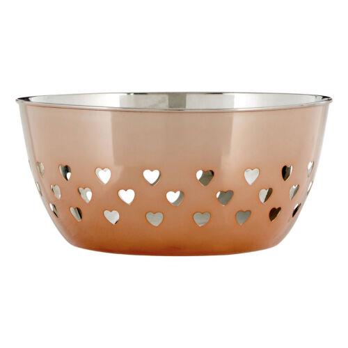 Acier Inoxydable or Rose Bol coeurs design cuisine table de salle à manger Décoration Nouveau