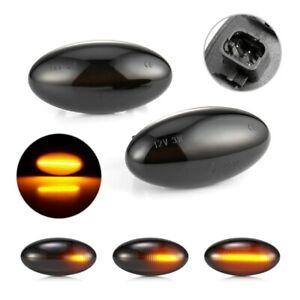 LED Dynamic Signal Side Marker Light For Peugeot 307 206 607 407 107 For Citroen