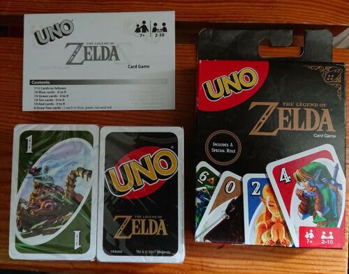 jeu de UNO Zelda NEUF Mattel avec notice FR