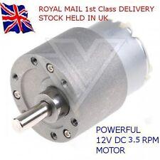 12V DC 3.5 RPM - Reversable Motor & GBox - High Torque - ARDUINO - RASPBERRY Pi