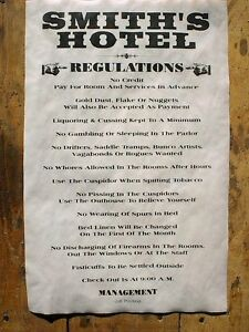 "OLD WEST SALOON TAYLOR/'S HOUSE RULES REGULATIONS NOVELTY POSTER 11/""x17/"" 491L"