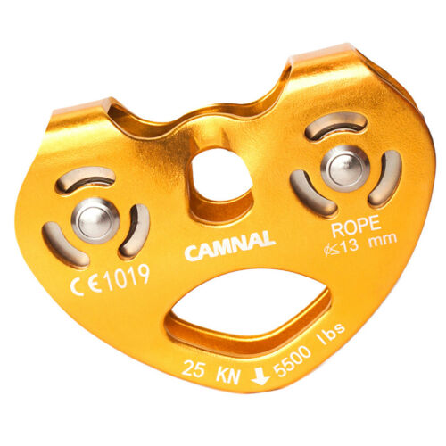 25KN Rock Climbing Tree Surgeon   Rope Pulley General Use Tool Yellow