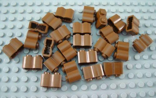 LEGO Lot of 25 Brown 1x2 Log Brick Pieces