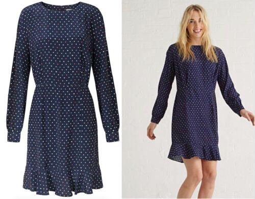 OLIVER BONAS Mini Heart Print Navy Summer Dress Sizes 6 to 16