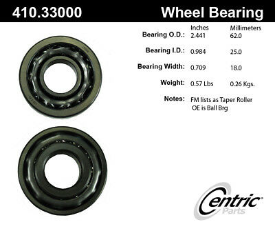 Centric 410.48000E Standard Wheel Bearing