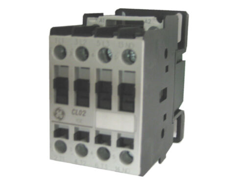 GE CL02A310TS 3 pole 32 AMP contactor with a 240 volt AC coil and 1 NO contact