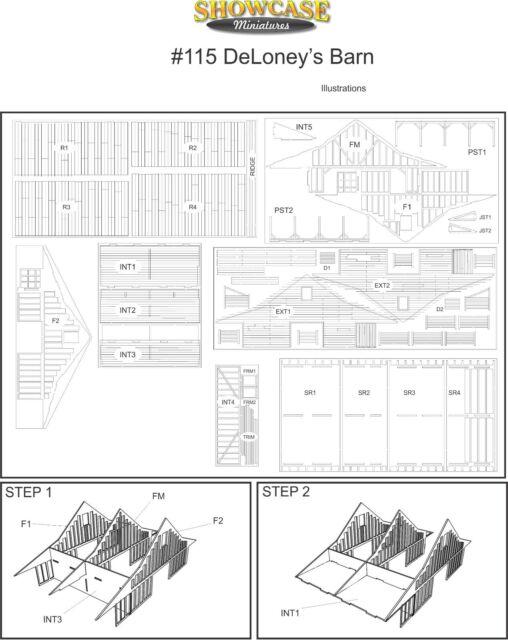 DeLoney/'s Barn Showcase Miniatures 115 N Scale Kit
