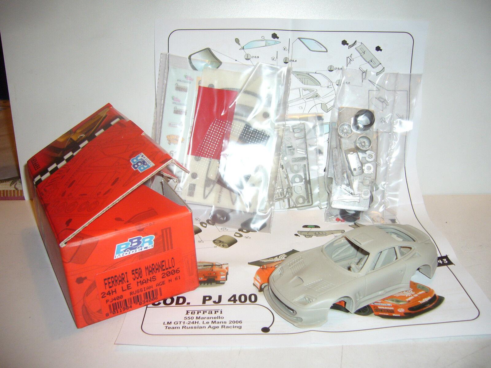 FERRARI 550 MARANELLO 24H LE MANS 2006 RUSSIAN AGE BY BBR 1 43 PJ400