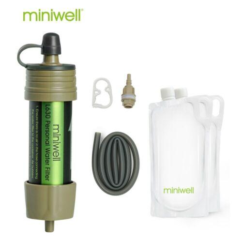 Réutilisable portable filtre à eau Sac d/'Urgence Ensemble De Voyage Randonnée Camping Home