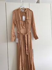 Self Portrait Militaire Crepe Shirt Maxi Dress Camel UK 12 NWT Genuine Sold Out