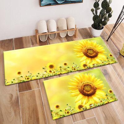 Sunflower Floral Rug Bedroom Carpet
