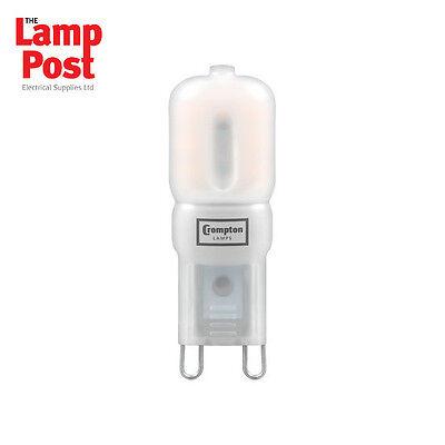 3415 2 x CROMPTON LED G9 2.5W Warm White Lamp Light Bulb 2.5 WATT 2700K