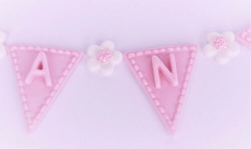 Girls Christening cake topper Edible baby girls shoes baby shower cake topper