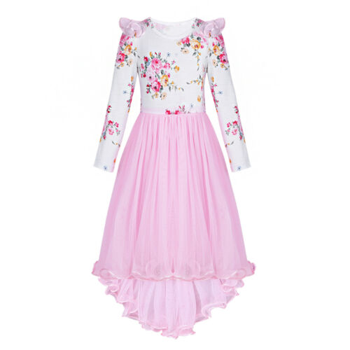 Flower Girl Communion Party Dress Princess Pageant Bridesmaid Wedding Dresses