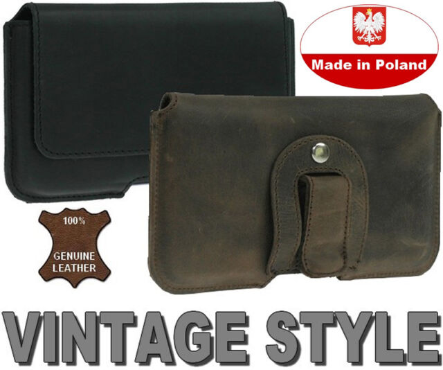 PIANO GENUINE REAL LEATHER POUCH CASE HOLSTER WITH BELT CLIP FOR HTC ONE M9