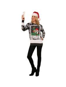e29b180c31b3 Unisex Forum Santa   Elf Hashtag Elfie  elfie Adult Ugly Christmas ...