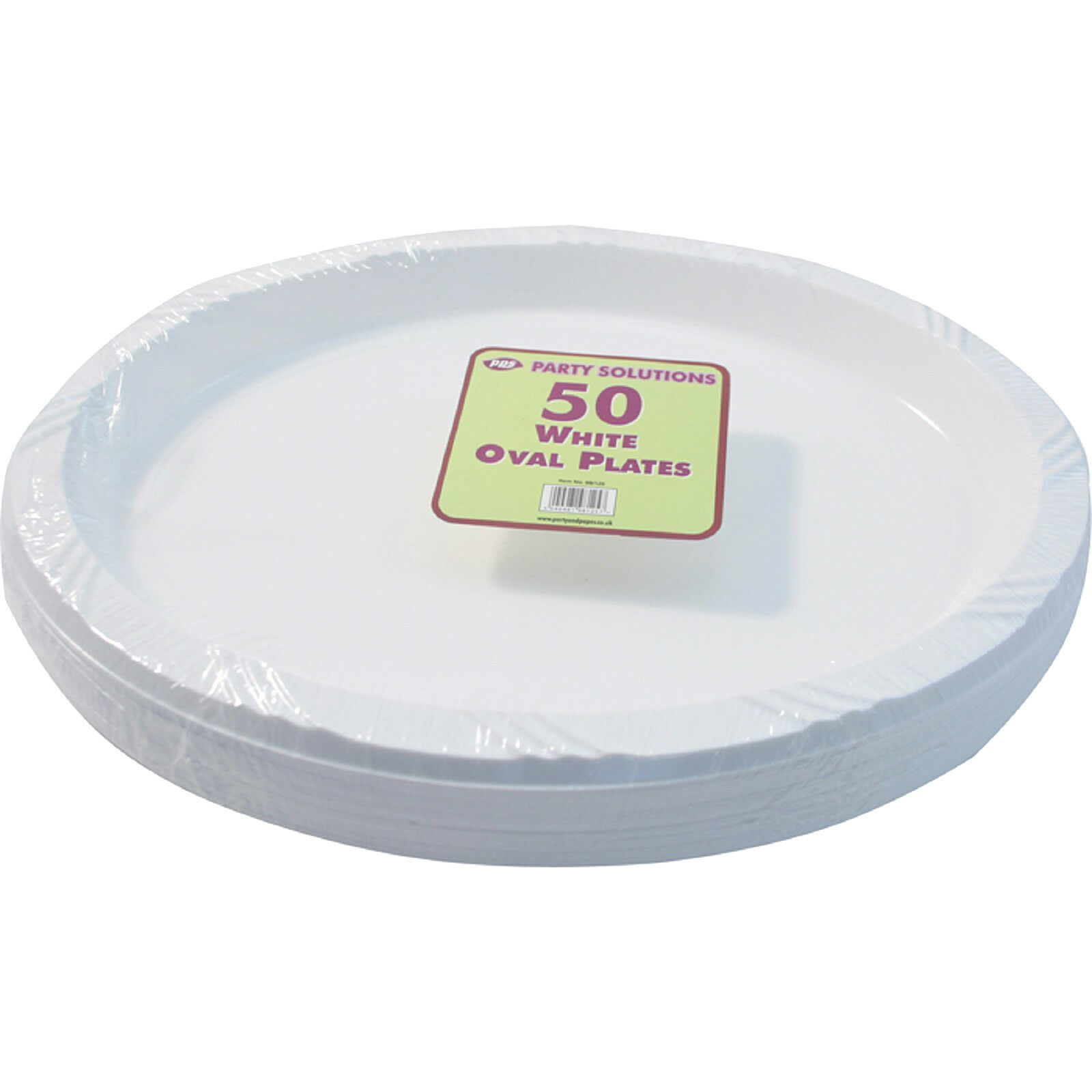 200 x WHITE PLASTIC PLATES OVAL 26cm SERVING TABLEWARE PARTY PLATE DISPOSABLE