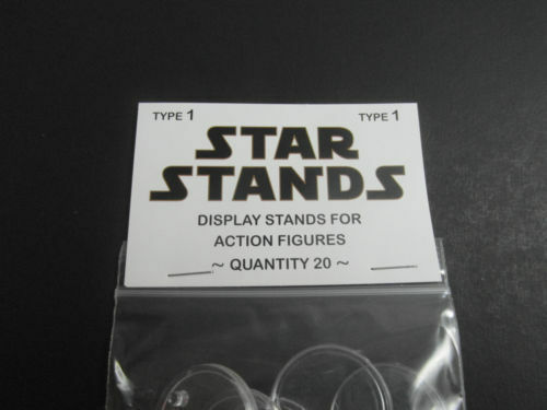 STAR WARS ACTION FIGURE DISPLAY STAND FOR VINTAGE FIGURES CLEAR X 60 T1c