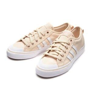 Details about Nizza Women shoes Adidas CQ2538 beige white Sneakers