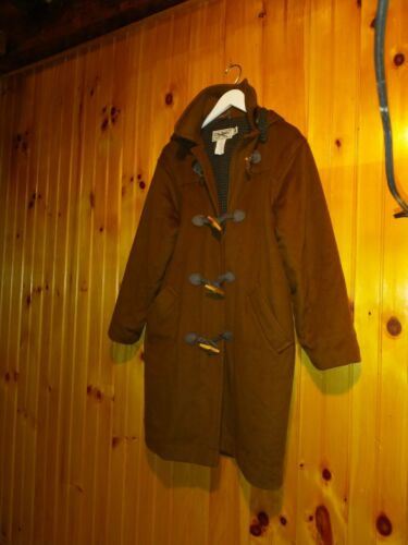 Vintage LL Bean Wool Toggle Coat Womens 6 Copper … - image 1