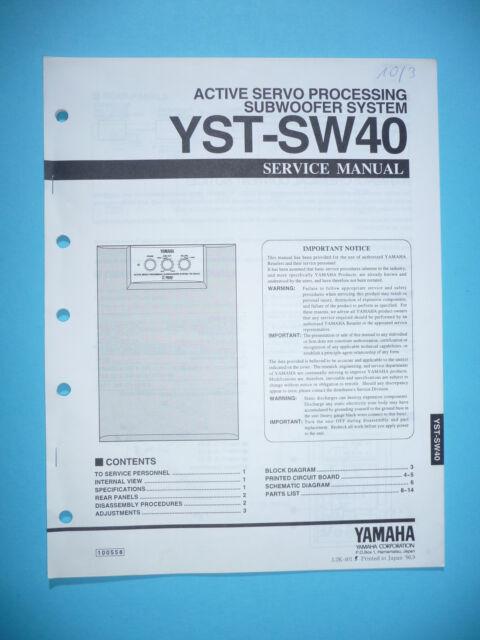 Service Manual For Yamaha Yst