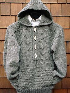 9617b5ff1 Image is loading Ladies-Womans-Man-Textured-Aran-Jacket-Pockets-Hood-