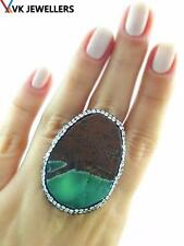 Turkish Handmade 925 Sterling Silver Jewelry Amazonite Druzy Ring VK03
