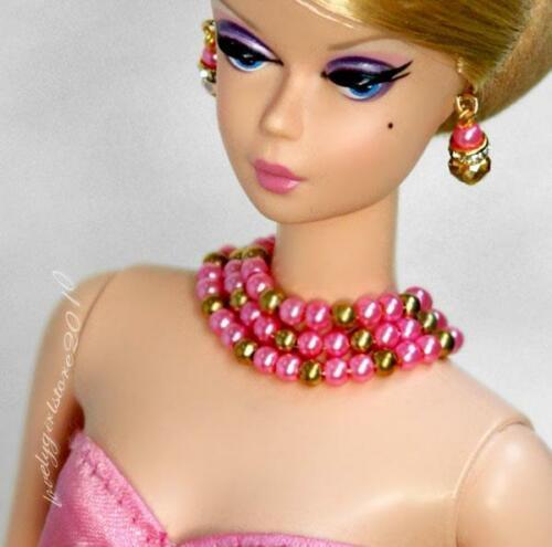 "Handmade doll jewelry necklace earrings fits 11.5/"" dolls #089"