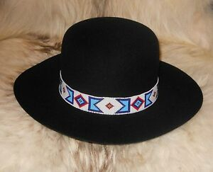 ba4c27d75ba Image is loading BILLY-JACK -MOVIE-REPLICA-HANDLOOMED-BEADED-HATBAND-AgnoulitaHats-