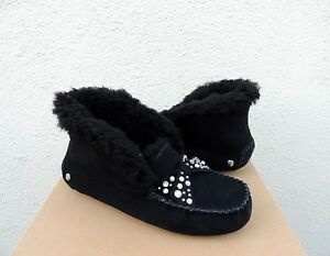 c87967d47f5 Details about UGG ALENA BRILLIANT BLING SHEEPSKIN CUFF MOCCASIN SLIPPERS,  US 6/ EUR 37 ~NIB
