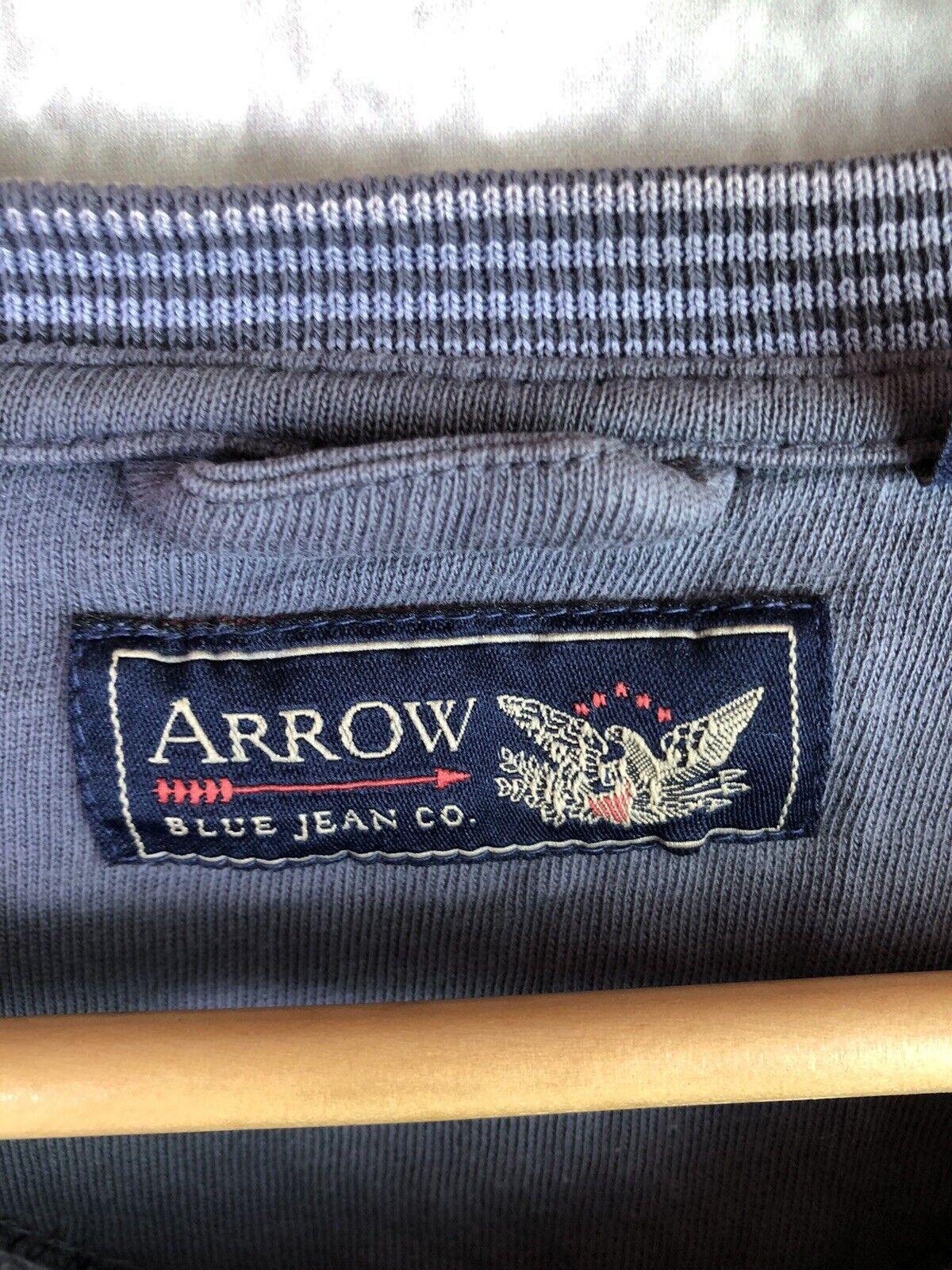Arrow Blue Jean Co. Pullover Sweatshirt Grey Size Large