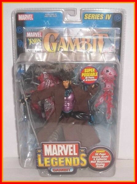 Toybiz marvel - legenden - gambit - serie 4 - x - men - gekrempelt und vollständige